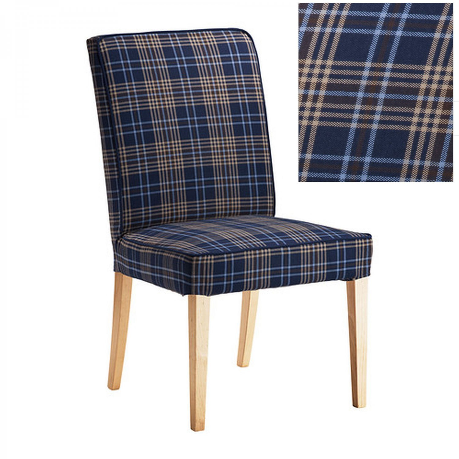 ikea henriksdal rutna multicolor blue plaid chair slipcover cover 21 54cm. Black Bedroom Furniture Sets. Home Design Ideas