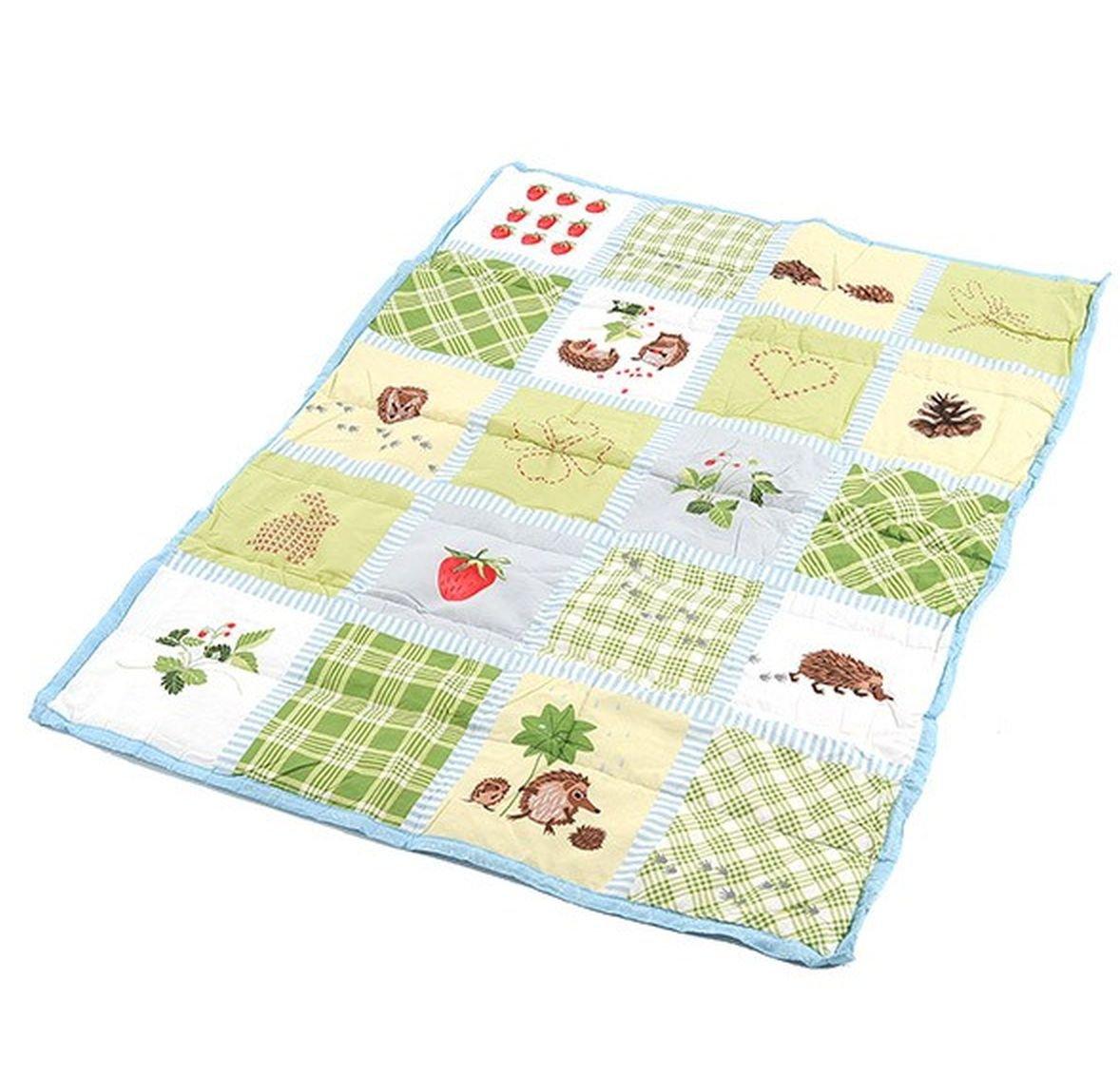 Ikea Vandring Ruta Crib Duvet Comforter Blanket Green
