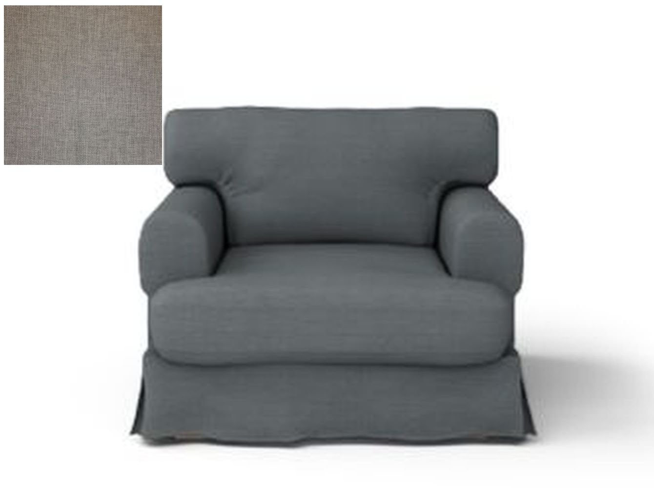IKEA HOV�S Hovas Armchair SLIPCOVER Chair Cover HJULSBRO GRAY Grey