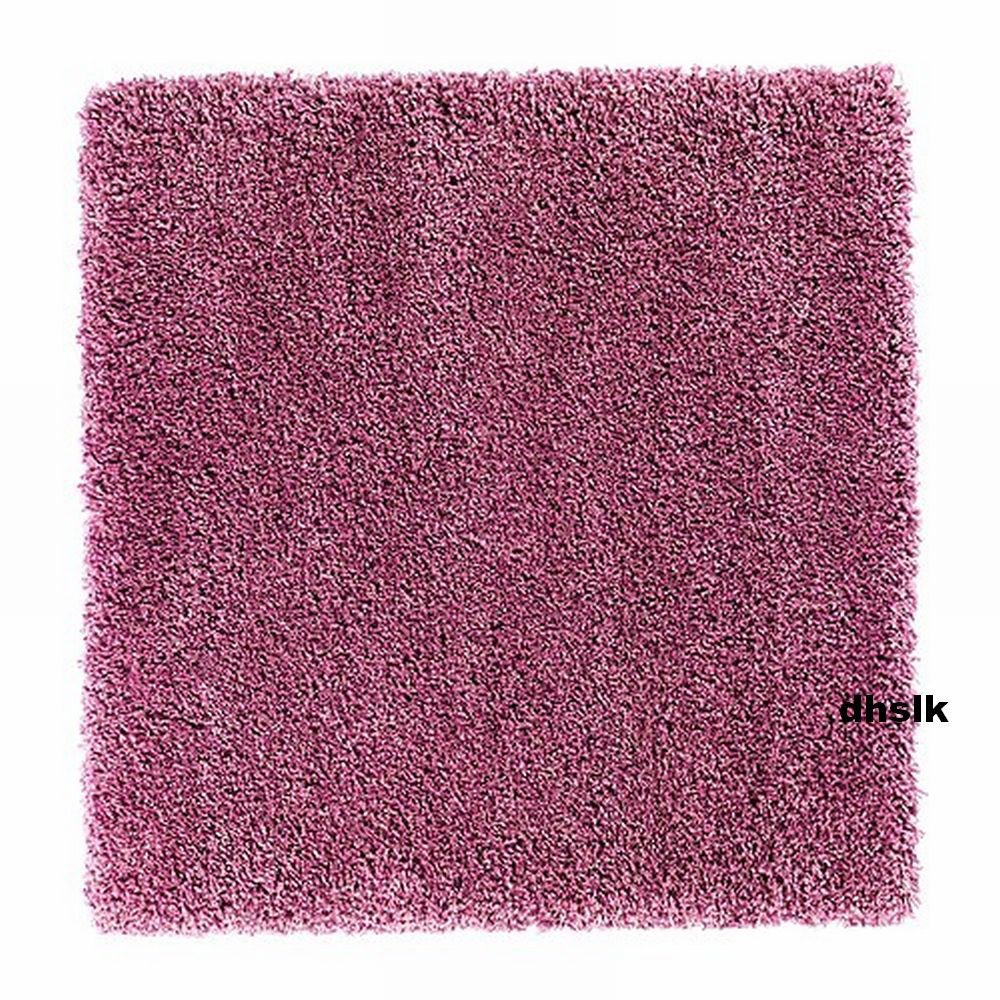 Ikea Aborg Pink Area Rug Throw Carpet Mat Hi Pile Modern