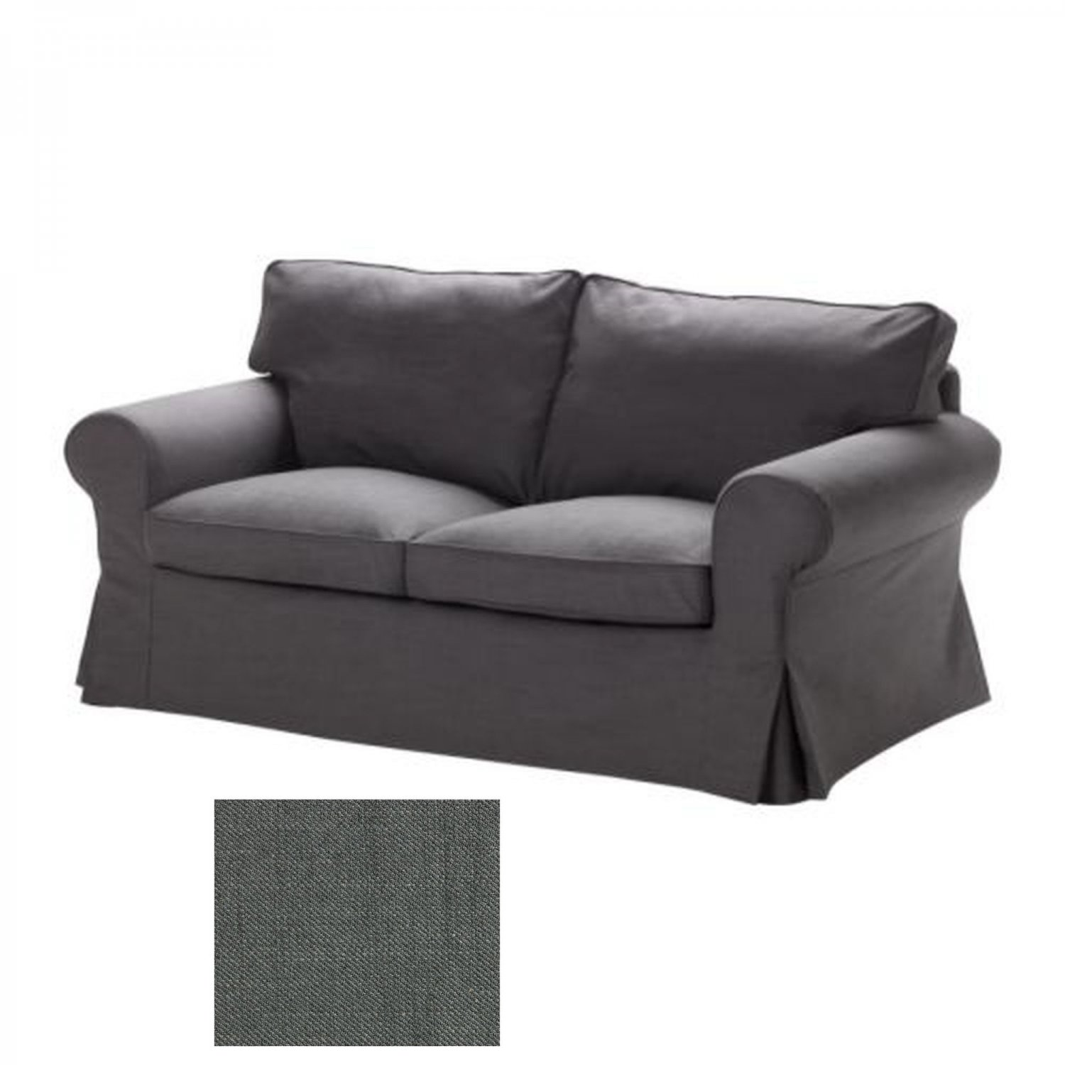 ikea ektorp 2 seat sofa slipcover loveseat cover svanby gray grey. Black Bedroom Furniture Sets. Home Design Ideas