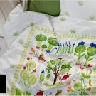 IKEA TORVA TRADGARD Duvet COVER Pillowcase Set VEGETABLE Patch Garden TRÄDGÅRD