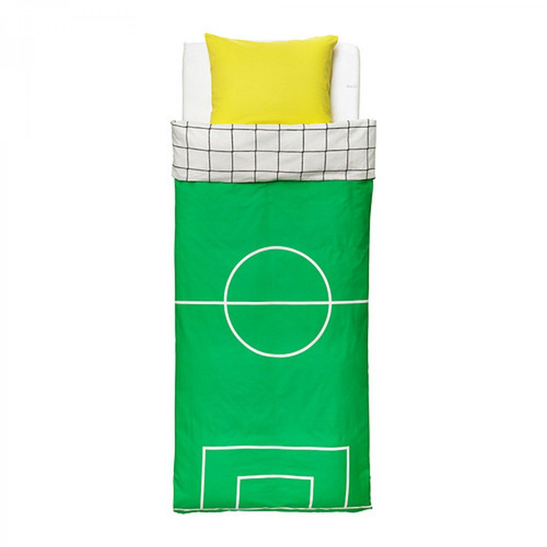 Ikea Spelplan Soccer Field Twin Duvet Cover Pillowcase Set