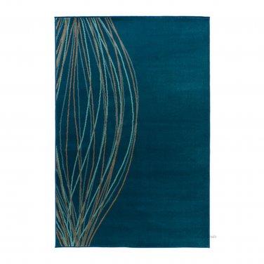 IKEA MALIN BLAD Turquoise Retro RUG Area Throw Mat LOW PILE Modern Blue