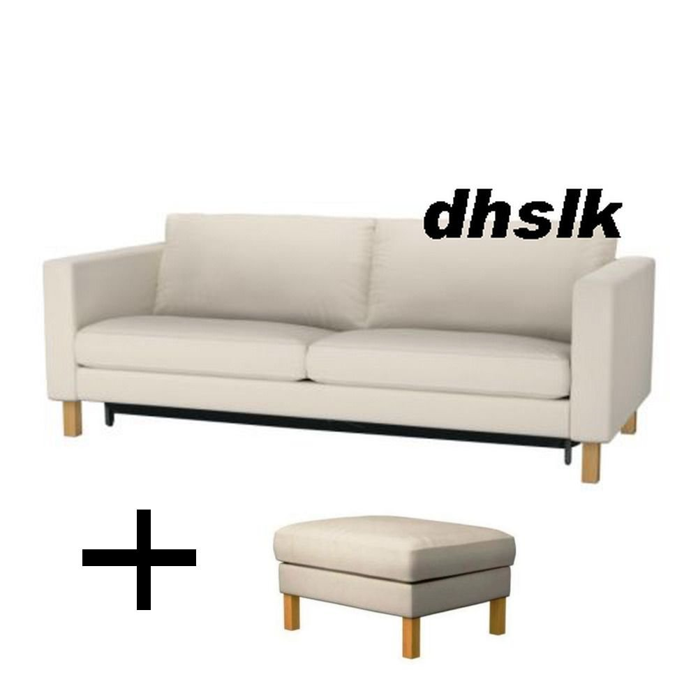Covers For Ikea Karlstad Sofa: IKEA KARLSTAD Sofa Bed And Footstool SLIPCOVERS Sofabed