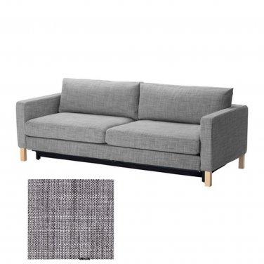 IKEA KARLSTAD Sofa Bed SLIPCOVER Cover ISUNDA GRAY Grey Linen Blend
