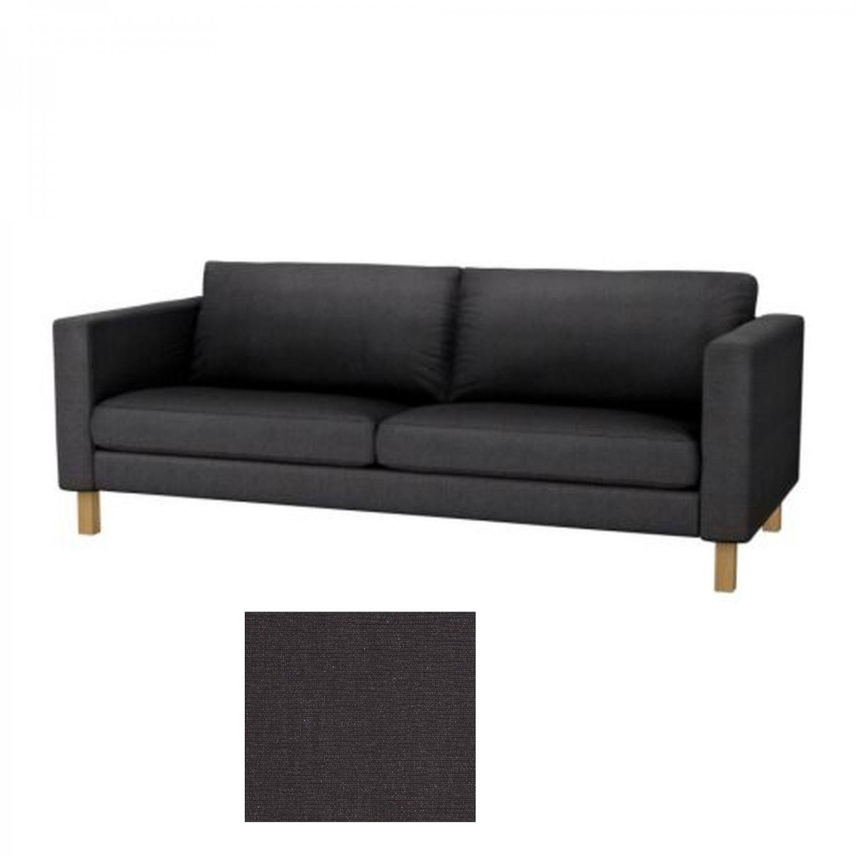 IKEA KARLSTAD 3 Seat Sofa SLIPCOVER Cover SIVIK DARK GRAY Grey