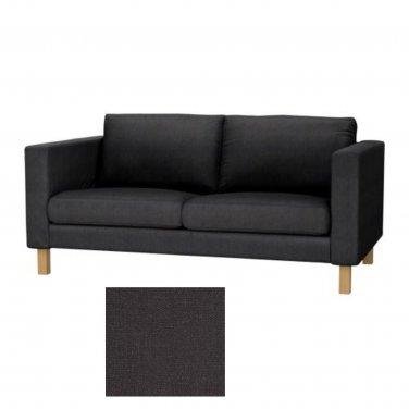 IKEA Karlstad SIVIK DARK GRAY 2 Seat Sofa SLIPCOVER Loveseat COVER Grey