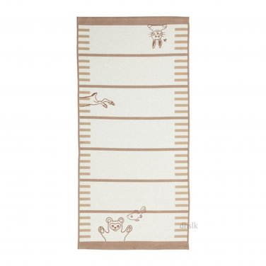 IKEA VANDRING Area Throw RUG Mat BEIGE Animals Kids Decor