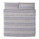 IKEA BIRGIT SPETS KING Duvet COVER Pillowcases Set NORWEGIAN Scandic Ski Lodge Design Xmas