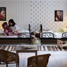 IKEA ALSLEV BEIGE White STRIPES Area Throw RUG MAT Reversible Flatwoven