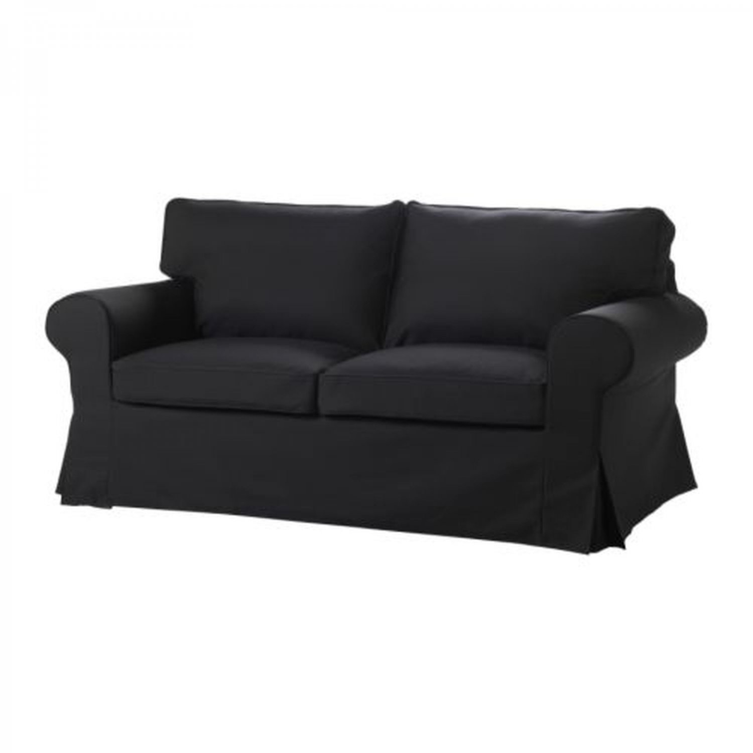 ikea ektorp sofa bed slipcover sofabed cover idemo black bezug housse. Black Bedroom Furniture Sets. Home Design Ideas