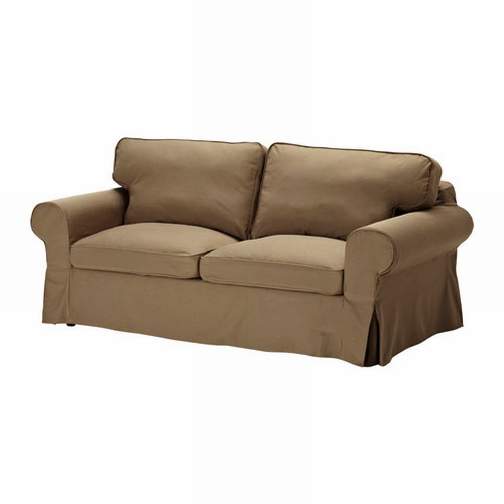 Ikea ektorp sofa bed slipcover cover idemo light brown for Ikea divan