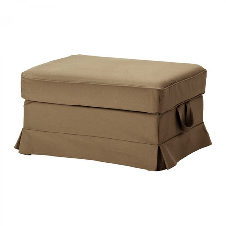 Ikea Ektorp Bromma Footstool Slipcover Idemo Light Brown