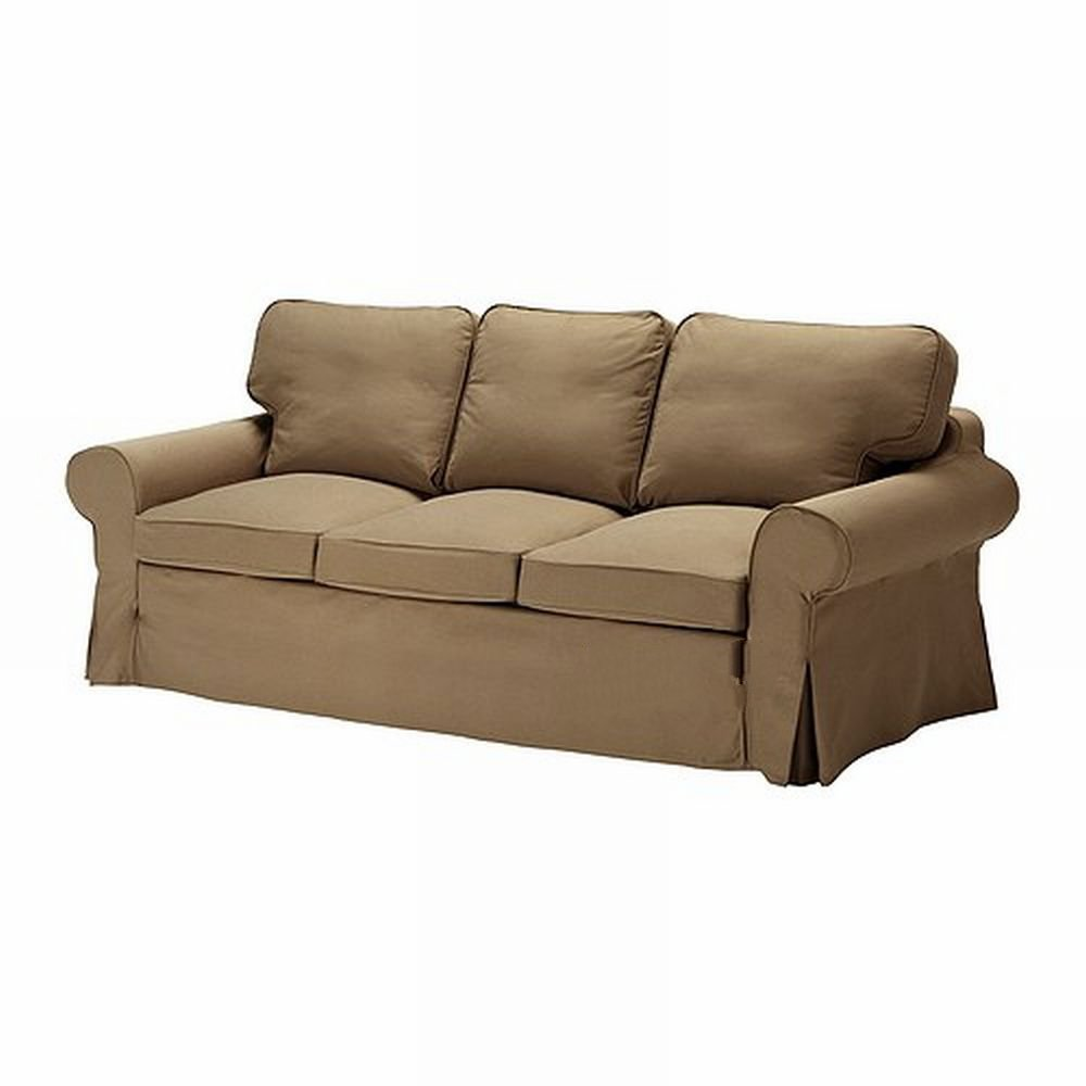 ikea ektorp 3 seat sofa slipcover cover idemo light brown. Black Bedroom Furniture Sets. Home Design Ideas