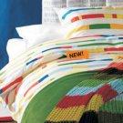 Ikea UNNI BJÖRK Bjork KING DUVET COVER Set RETRO Modern COLOR BAND
