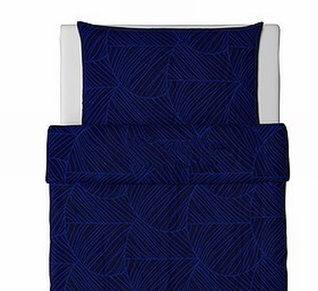 Ikea Guldlin Blad Twin Duvet Cover Pillowcases Set Blue