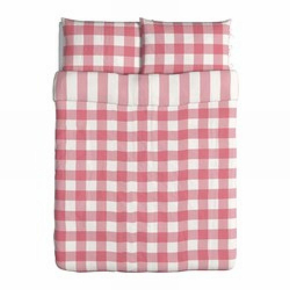 Ikea Emmie Ruta Queen Duvet Cover Pillowcases Set Pink