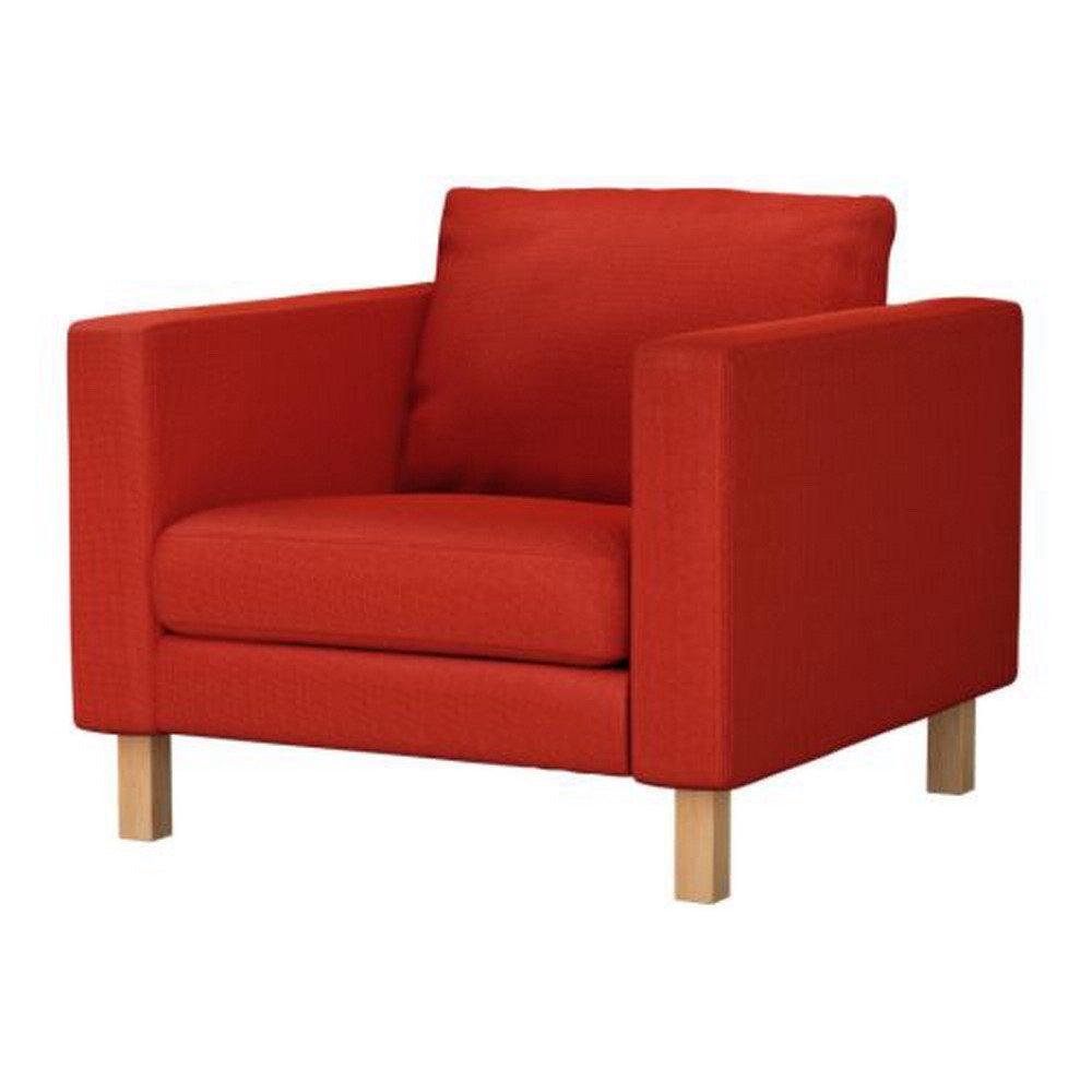 Ikea KARLSTAD Armchair Chair SLIPCOVER Cover KORNDAL RED
