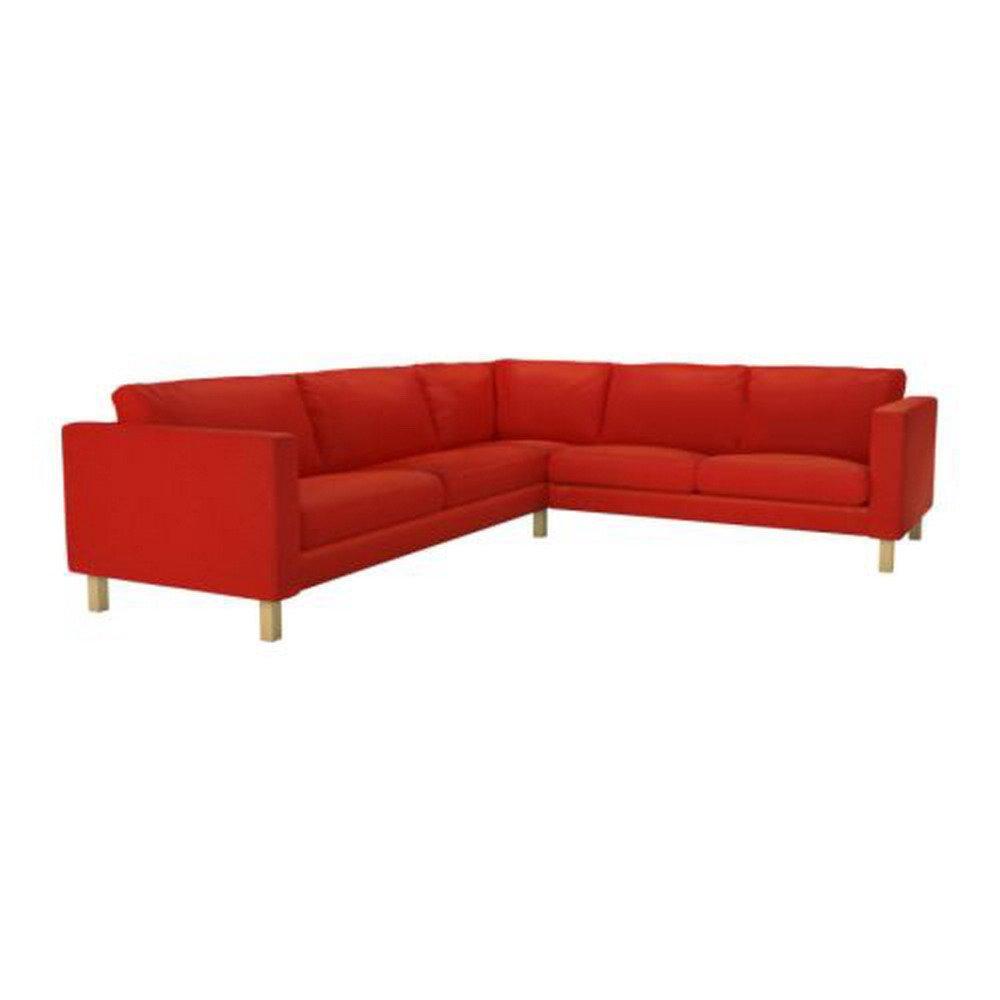 IKEA KARLSTAD Corner Sofa SLIPCOVER Cover KORNDAL RED 2+3 / 3+2
