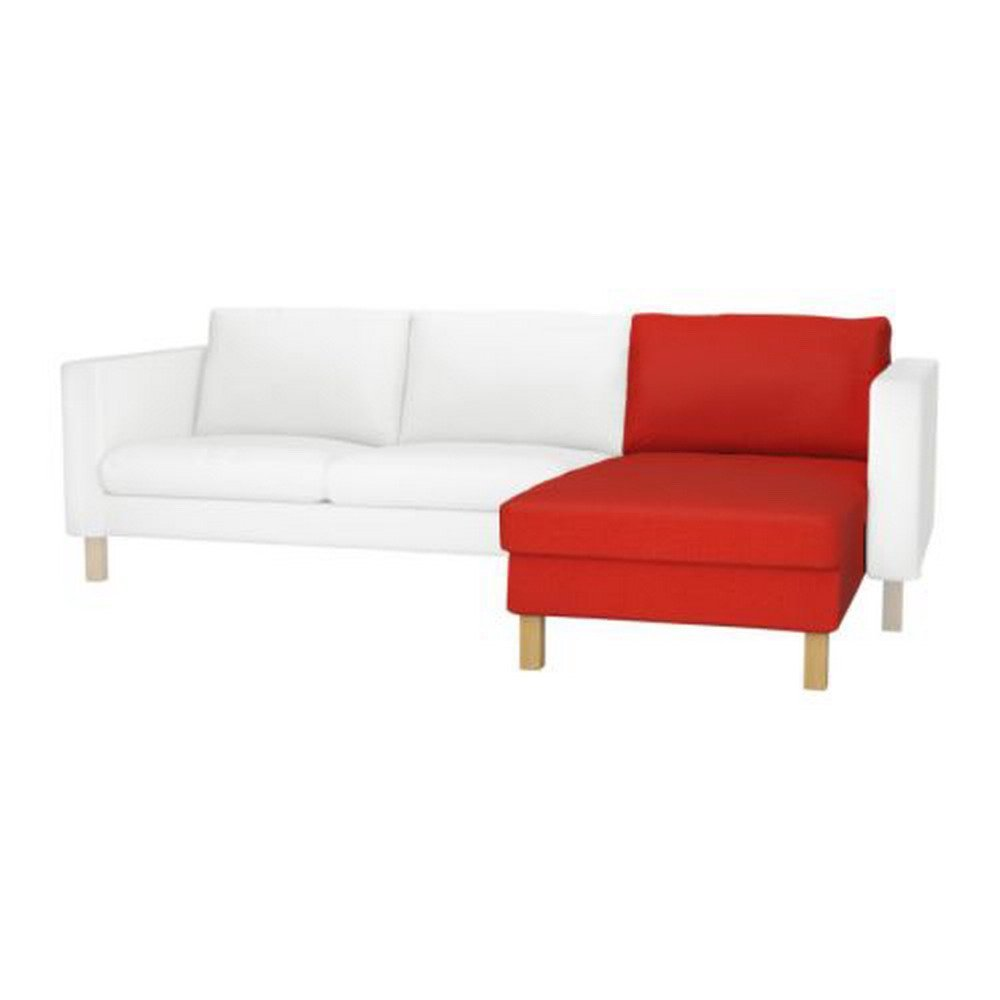 Ikea karlstad add on chaise longue slipcover cover korndal red for Chaise longue ikea uk