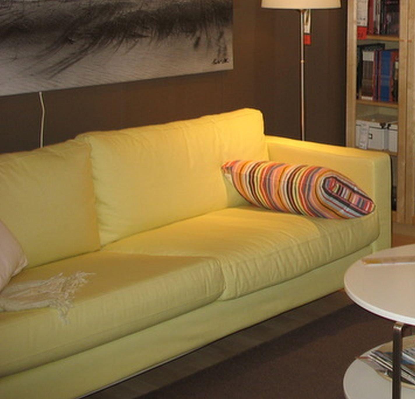 Ikea KARLSTAD Loveseat Sofa SLIPCOVER Cover SIVIK Light YELLOW 2