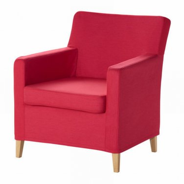 Ikea KARLSTAD Chair SLIPCOVER Armchair Cover SIVIK PINK RED Pink-Red