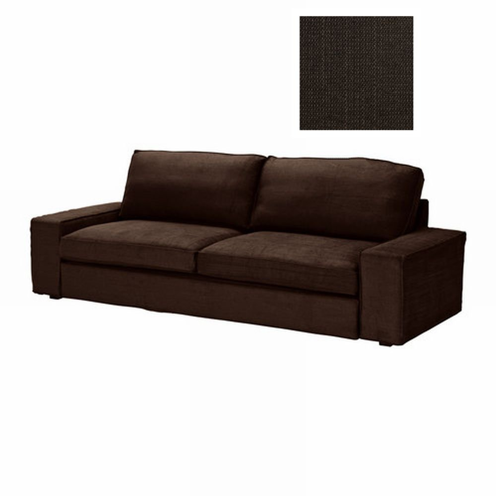 Ikea kivik sofa bed slipcover cover tullinge dark brown for Housse sofa ikea