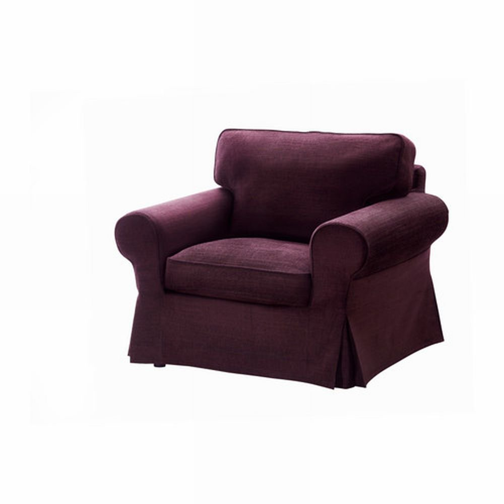ikea ektorp armchair cover chair slipcover tullinge lilac purple bezug housse. Black Bedroom Furniture Sets. Home Design Ideas