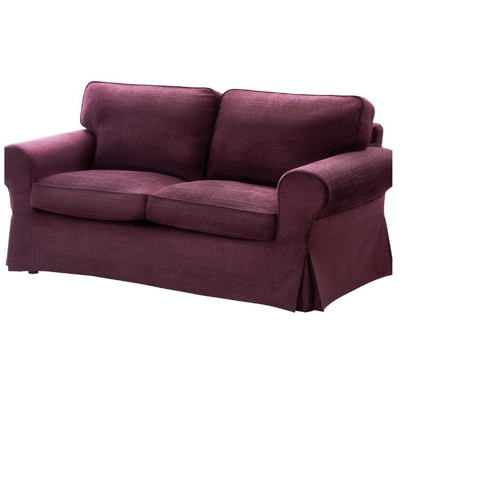 Ikea Ektorp 2 Seat Loveseat Sofa Cover Slipcover Tullinge Lilac Purple