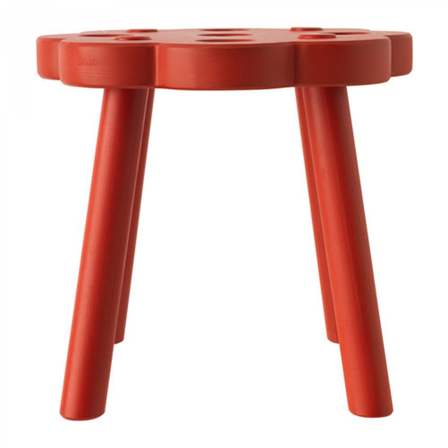 IKEA RYSSBY RED Wooden STOOL Chair Footstool Solid Wood Xmas Vinter