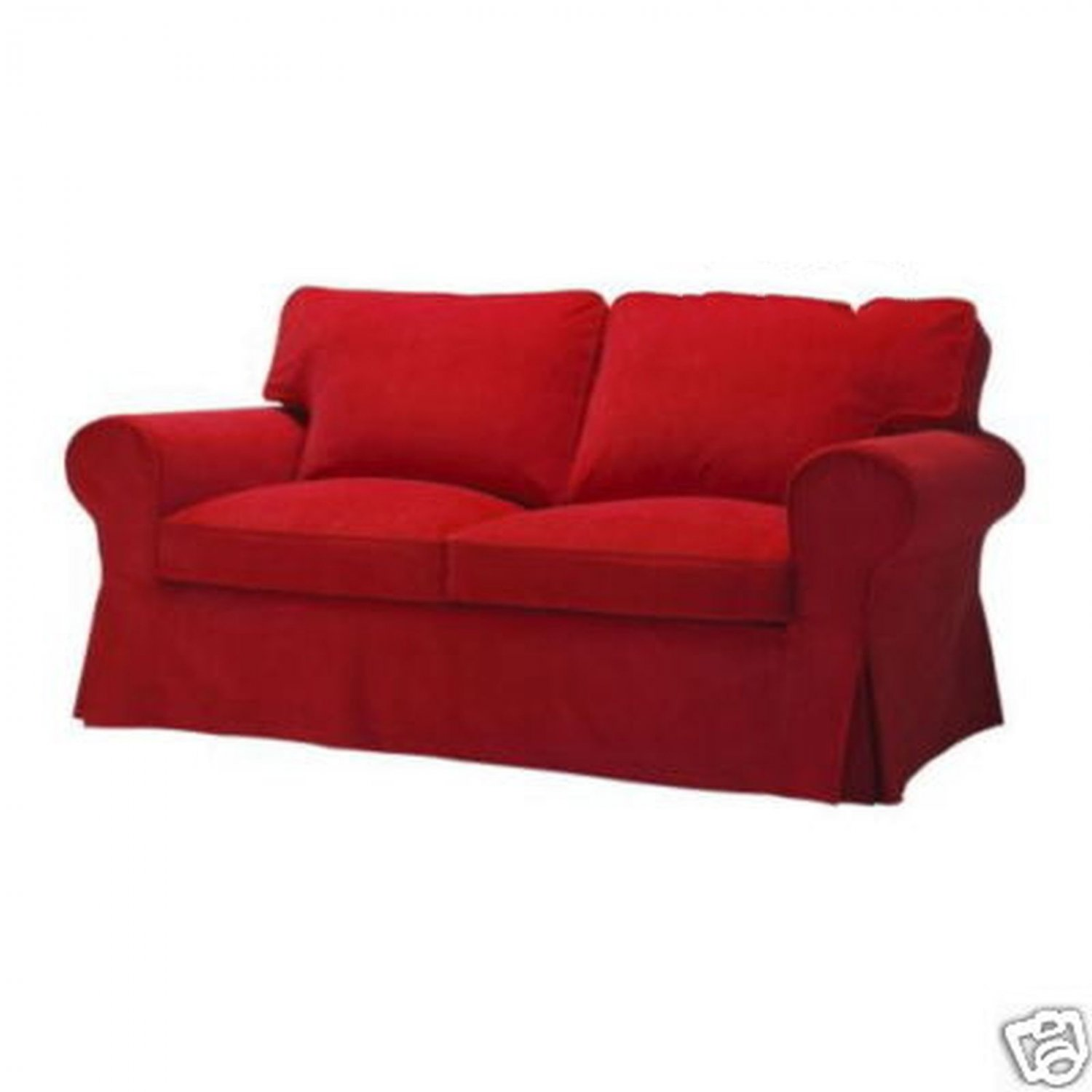 Ikea Ektorp 2 Seat Loveseat Sofa Slipcover Cover Leaby Red Corduroy Xmas Limited Edition Last One