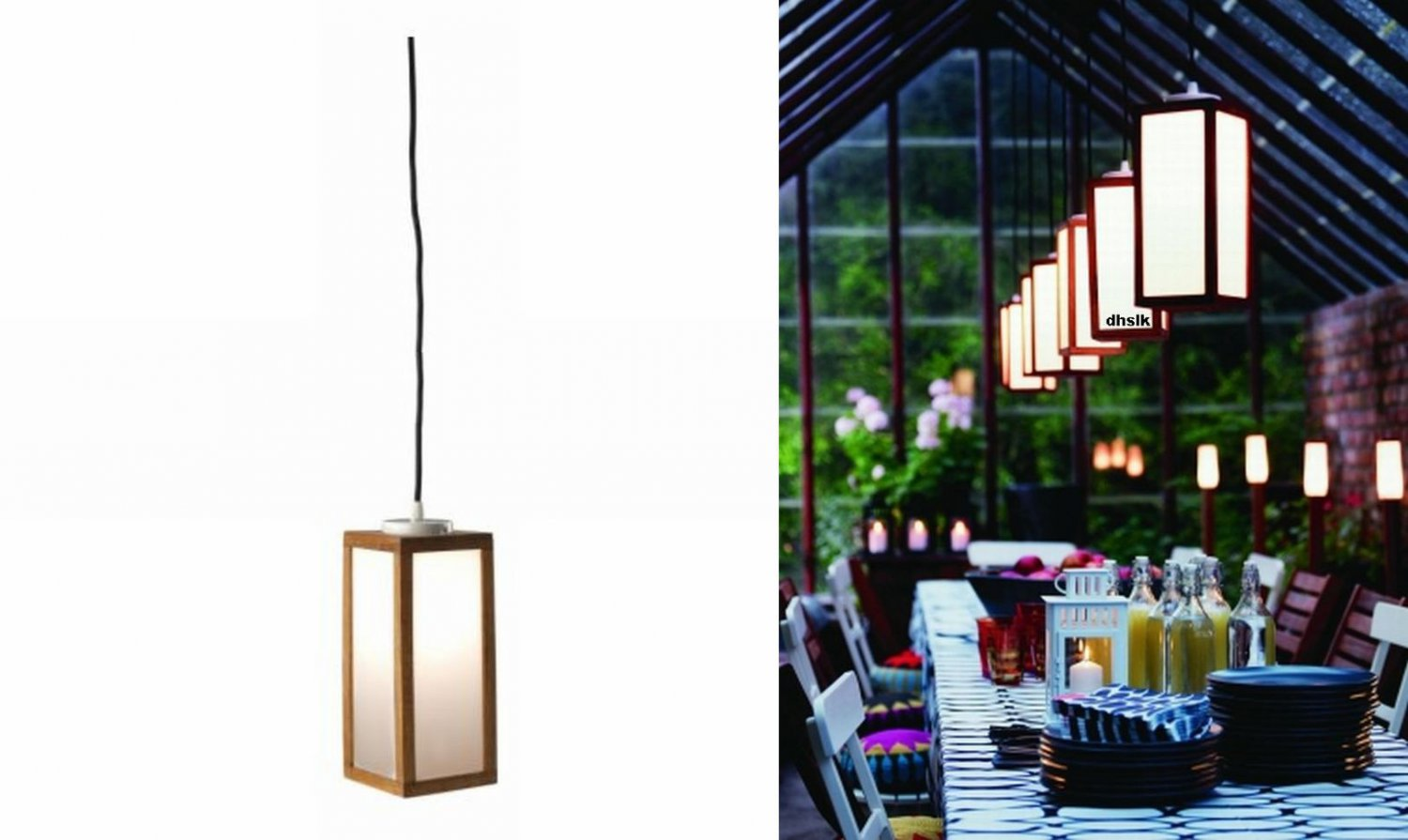 Ikea Laro ÄpplarÖ Accent Light Lamp Indoor Outdoor Acacia Wood Modern Patio