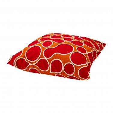 IKEA HULDA Cushion COVER Pillow Sham RED Orange BOLD Modern MOD Large
