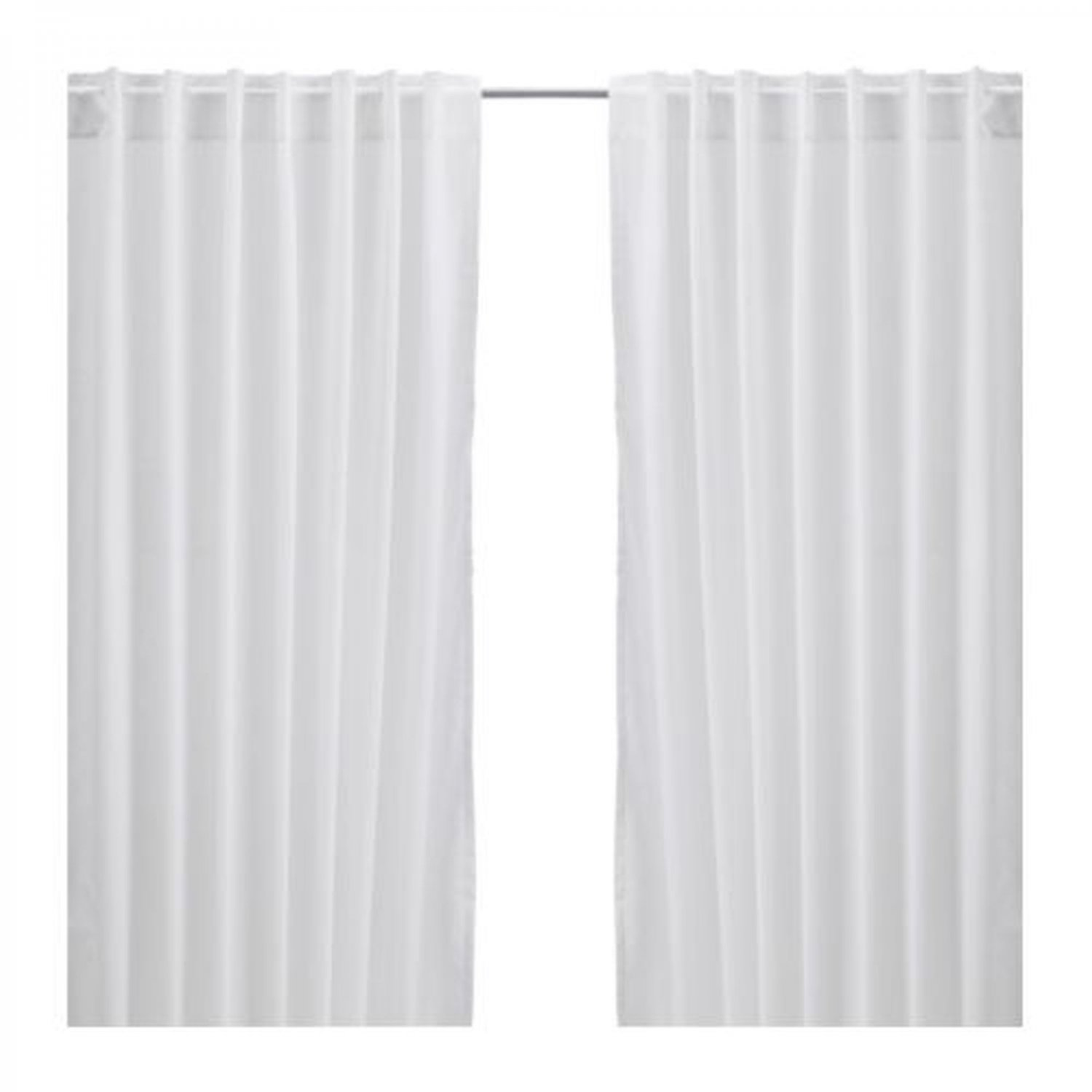 Ikea vivan curtains drapes white 2 panels for Ikea curtain rods uk