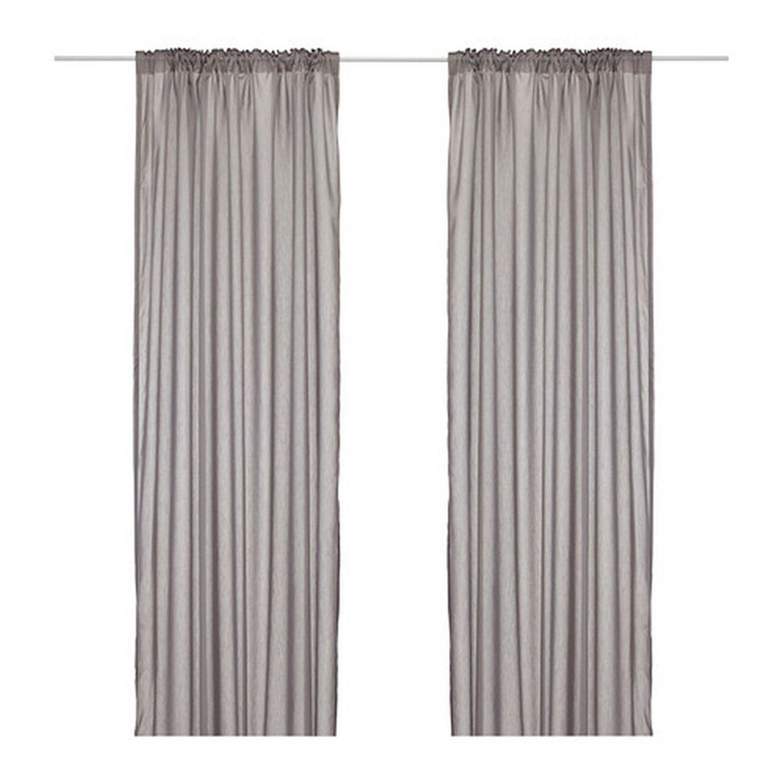 IKEA VIVAN CURTAINS Drapes GRAY Grey 2 Panels