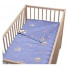 IKEA FABLER HJARTA BLUE CRIB Duvet COVER Pillowcase SET Nursery Bedding Elephants Hearts