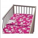 IKEA KORALL BUBBLOR PINK CRIB Duvet COVER Pillowcase SET Nursery Bedding Bubbles