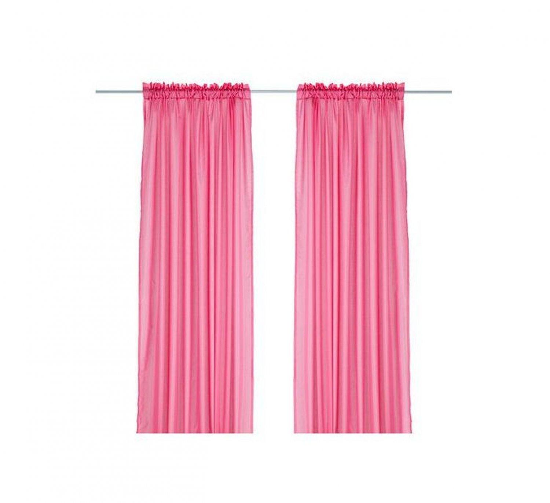 Perfect Chords And Lyrics Pink: IKEA VIVAN CURTAINS Drapes HOT PINK 2 Panels Cerise Bright