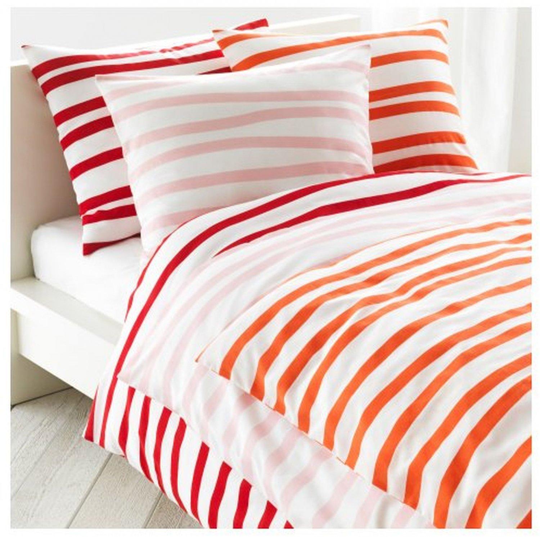Ikea Springkorn Queen Full Duvet Cover Set Wavy Striped