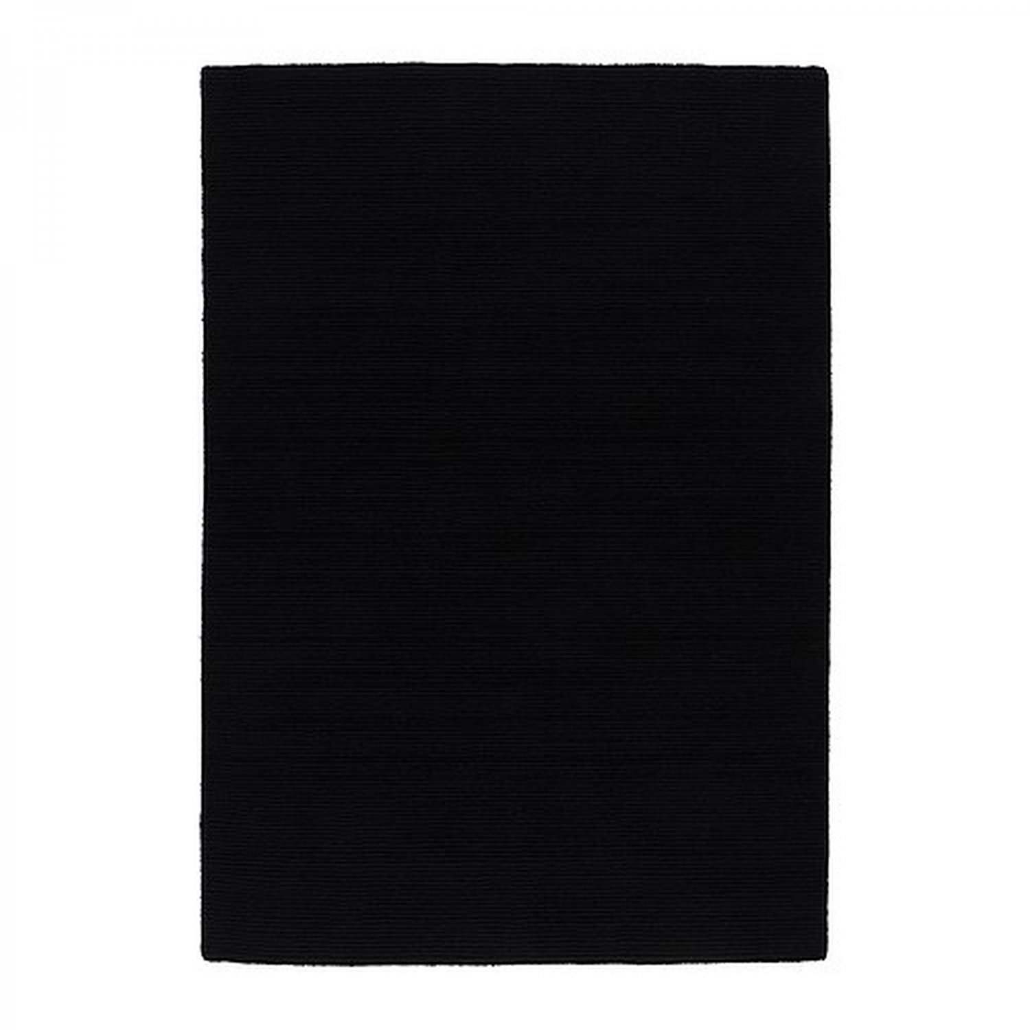 ikea almsted black area rug mat wool modern classic low