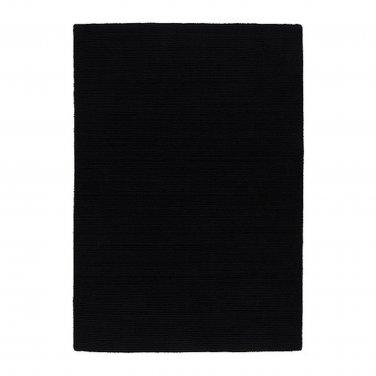 "IKEA ALMSTED BLACK Area RUG Mat WOOL Modern Classic Low Pile 4'7""x6'7"""