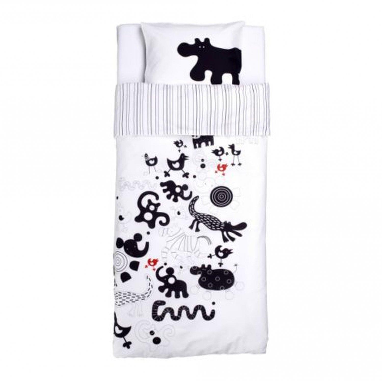 Ikea Barnslig Park Twin Duvet Cover Pillowcase Set White