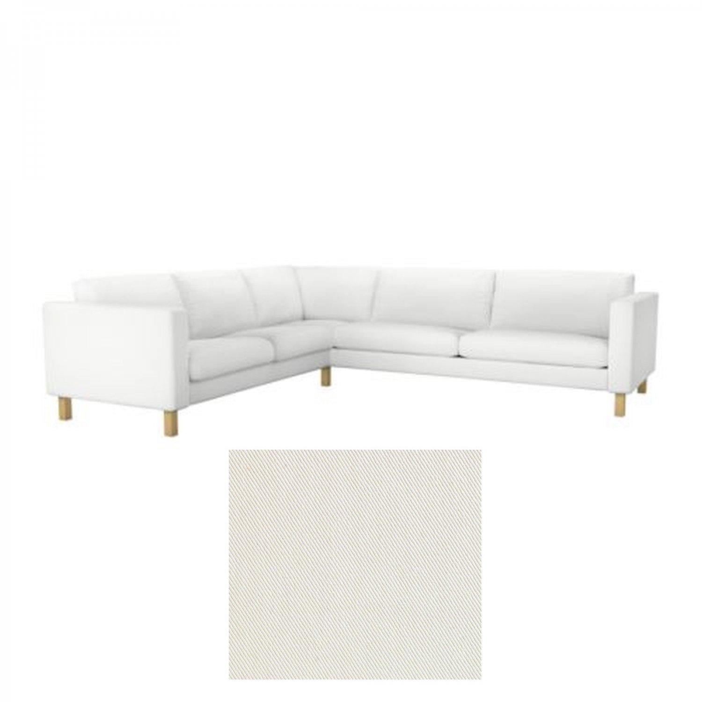 Ikea Karlstad Corner Sofa Slipcover Cover Blekinge White 2