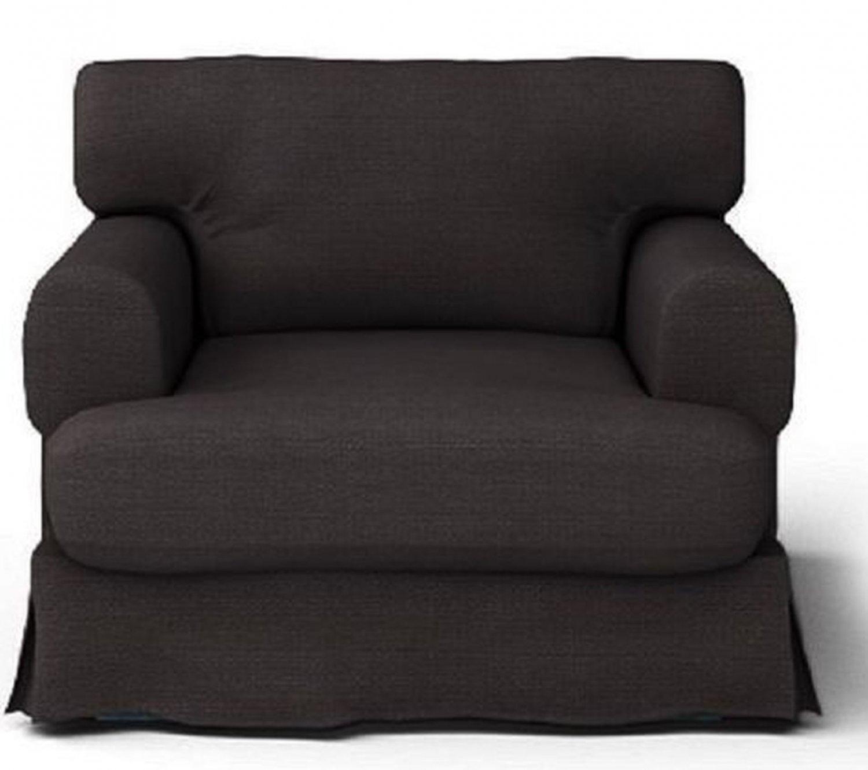 IKEA HOV�S Hovas Armchair SLIPCOVER Chair Cover HJULSBRO GRAY BROWN Grey-Brown