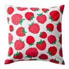 "IKEA SOMMAR 2015 RASPBERRY Cushion COVER Pillow Sham PINK RED WHITE 20"" x 20"" Maria Vinka Summer"
