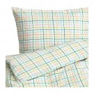 IKEA SOMMAR 2015 Queen Full DUVET COVER Pillowcases Set Multicolor Grid Check Lines Summer