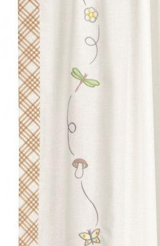 Attractive IKEA VANDRING CURTAINS White Embroidered Dragonflies Butterflies Girl Boy  Retro