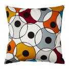 "IKEA DVARGPALM Cushion COVER Pillow Sham CIRCLES 20"" x 20"" DVÄRGPALM Multicolor"