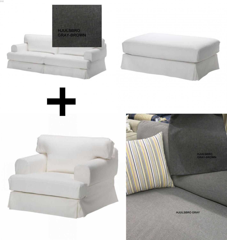 IKEA HOV…S Hovas Sofa Armchair and Footstool SLIPCOVER Cover bo